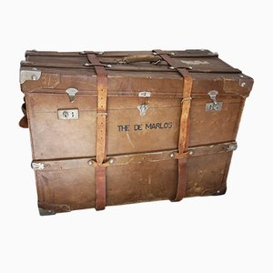 Vintage Leather Chest, 1930s