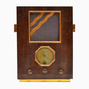 Radio Pathé 61 vintage con altavoz bluetooth de Charlestine, 1936
