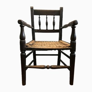 Antique Child's Oak Spindle Back Chair