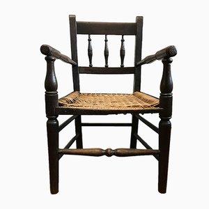 Sedia da bambino antica in quercia