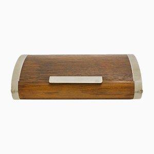 Caja de almacenamiento de roble y metacrilato de Carl Auböck, años 50