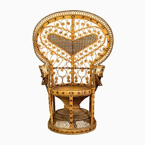 Zweifarbiger Peacock Chair mit Herzdeko, 1970er