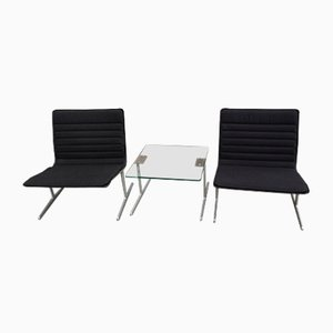 601 Armchairs with Table by Dieter Rams for Vitsœ, 1960s