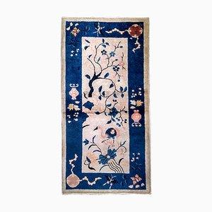 Handgefertigter chinesischer Teppich, 1900er