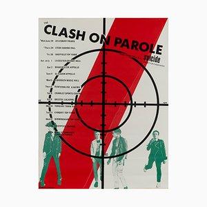 The Clash Plakat von britischer Tour, 1978