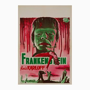 Affiche Frankenstein par Bos pour L. & H. Verstegen, 1950s