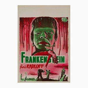 Póster de Frankenstein de Bos, años 50