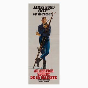 Affiche On Her Majesty's Secret Service par Yves Thos and Jouineau Bourduge, 1969