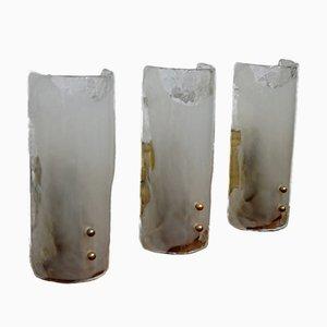 Apliques de cristal de Murano de J.T. Kalmar, años 60 . Juego de 3