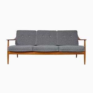 Canapé Antimott Vintage en Teck de Wilhelm Knoll, 1960s