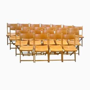 Sillas de teatro plegables, años 60. Juego de 22