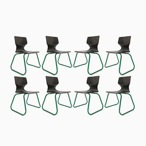 Children's Chairs by Adam Stegner for Pagholz Flötotto, 1960s, Set of 8