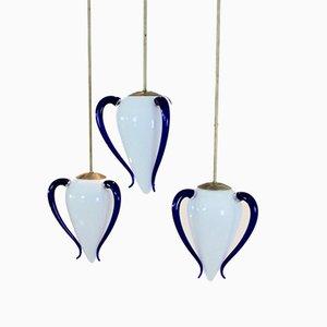 Eiförmige Venexiana Hängelampe aus Muranoglas von Barovier & Toso, 1960er