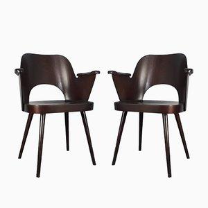 Stühle von Oswald Haerdtl für TON, 1950er, 2er Set
