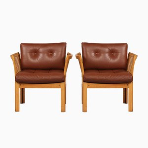 Plexus Easy Chairs by Illum Wikkelsø for CFC Silkeborg, 1960s, Set of 2