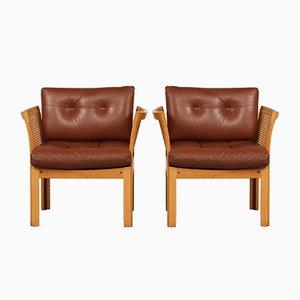 Plexus Easy Chairs by Illum Wikkelsø for CFC Silkeborg, 1960s, Set of 2