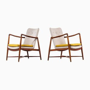 BO59 Easy Chairs by Finn Juhl for Bovirke, Set of 2