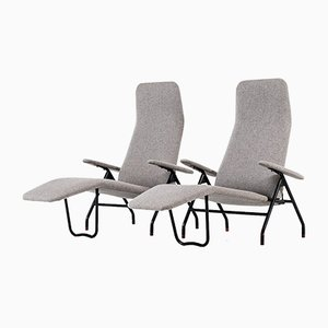 Mid-Century Reclining Lounge Chairs, 1960s, Set of 2