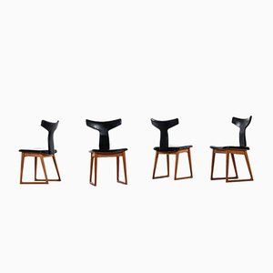 Dining Chairs by Helge Sibast for Sibast, 1950s, Set of 4