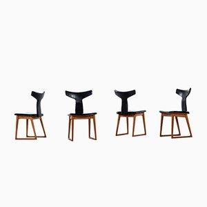 Esszimmerstühle von Helge Sibast für Sibast, 1950er, 4er Set