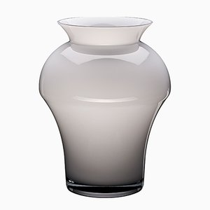 White Glanced King Vase by Artis Nimanis for an&angel