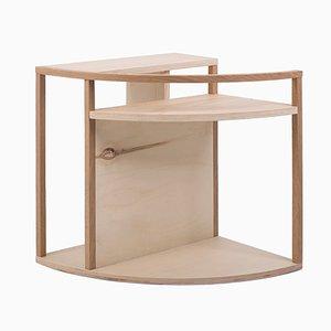 Tavolino Meja multiuso in poplar e quercia di Studio Nuance