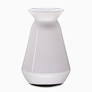 White Glanced Queen Vase by Artis Nimanis for an&angel