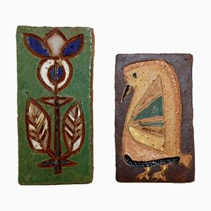French Glazed Ceramics from Les Argonautes, 1950s, Set of 2