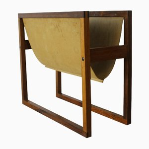 Magazine Rack in Rosewood by Henning Wind Hansen for Sika Møbler, 1960s
