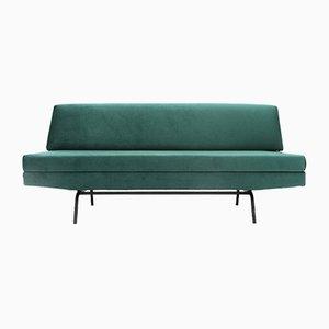 Italienisches Schlafsofa aus grünem Samt, 1960er