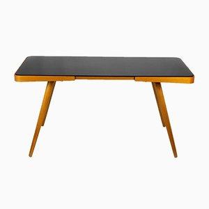 Table Basse avec Plateau en Verre Noir par Jiri Jiroutek pour Interier Praha, 1960s