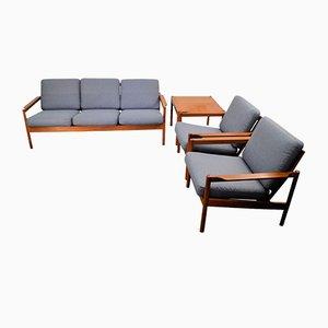 Vintage Teak Living Room Set by Kai Kristiansen for Magnus Olesen