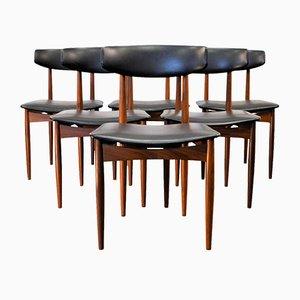 Vintage Danish Teak Dining Chairs, Set of 6