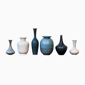 Vases par Gunnar Nylund pour Rörstrand, 1950s, Set de 6
