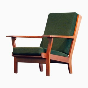 Model GE330 Easy Highback Chair in Teak by Hans J. Wegner Easy for Getama, 1960s