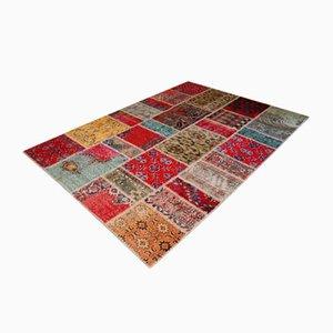 Türkischer Vintage Patchwork-Teppich