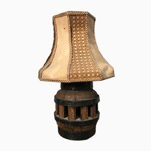 Tischlampe aus massivem Holz & Metall, 1960er