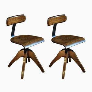 Chaises de Bureau Pivotantes, 1950s, Set de 2