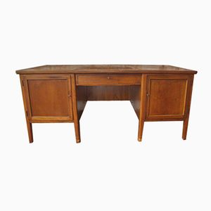 Large Walnut Desk, 1950s