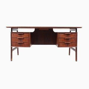 Vintage Rosewood Desk from Omann Jun