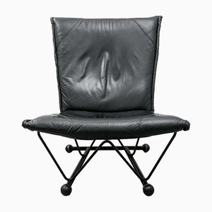 Flyer Easy Chair in Leather by Pierre Mazairac & Karel Boonzaaijer for Young International, 1980s