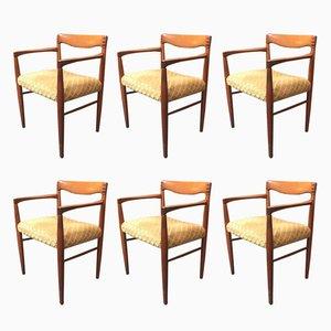 Dänische Esszimmerstühle von H.W. Klein für Bramin, 6er Set