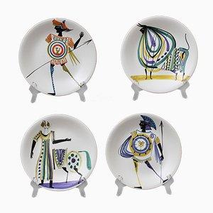 Piatti decorativi di Roger Capron, anni '50, set di 4