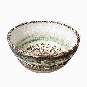 Cuenco decorativo francés Mid-Century de cerámica de Albert Thiny