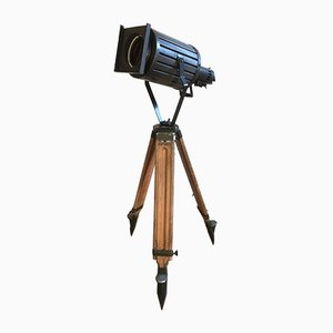 Vintage Black Theater Tripod Lamp, 1960s