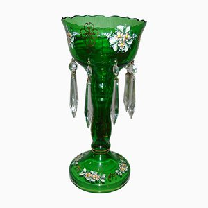 Glass Candleholder from Bohemia, 1970s