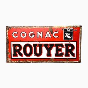 Französisches Vintage Rouyer Cognac Schild, 1940er