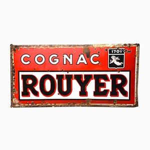 Vintage French Rouyer Cognac Sign, 1940s