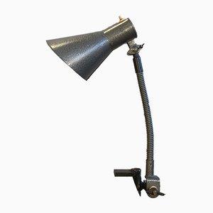 Lámpara de escritorio industrial vintage en gris, años 60