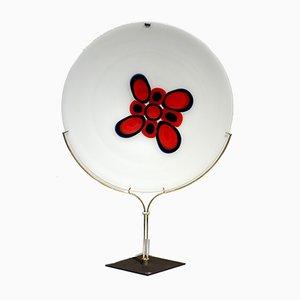 Plato Siena de cristal de Murano de Bruno Gambone para VeArt, años 70